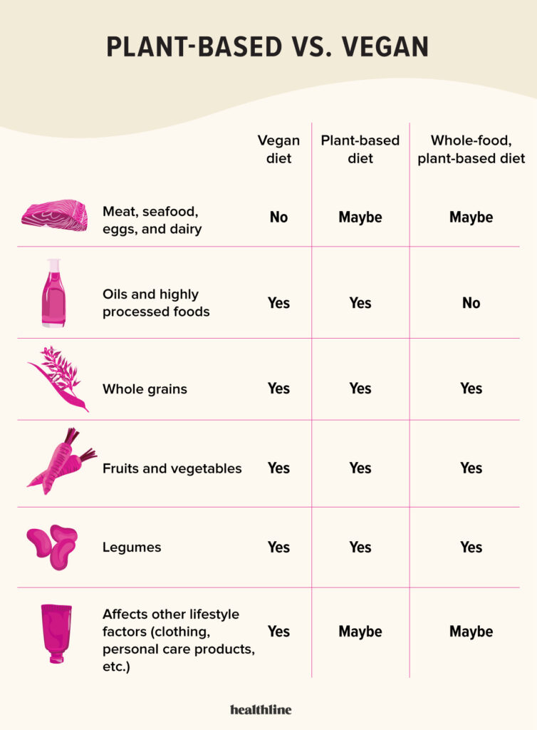 plant-based diet vs vegan
